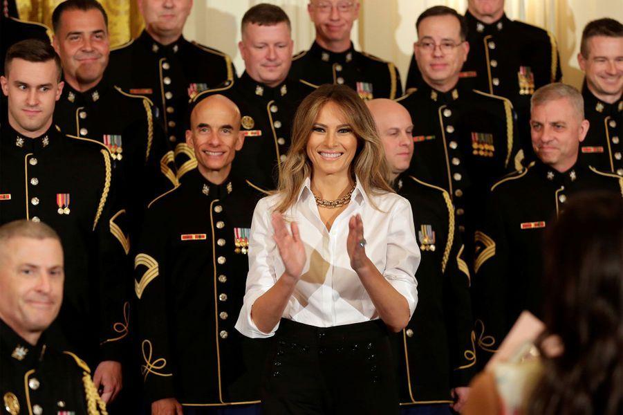 Melania Trump à la Maison-Blanche, le 12 mai 2017.A voir : Melania Trump honore les mères de militaires