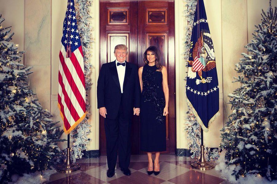 Donald et Melania Trump à la Maison Blanche, le 5 décembre 2017.A lire : Voici la photo officielle de Donald et Melania Trump