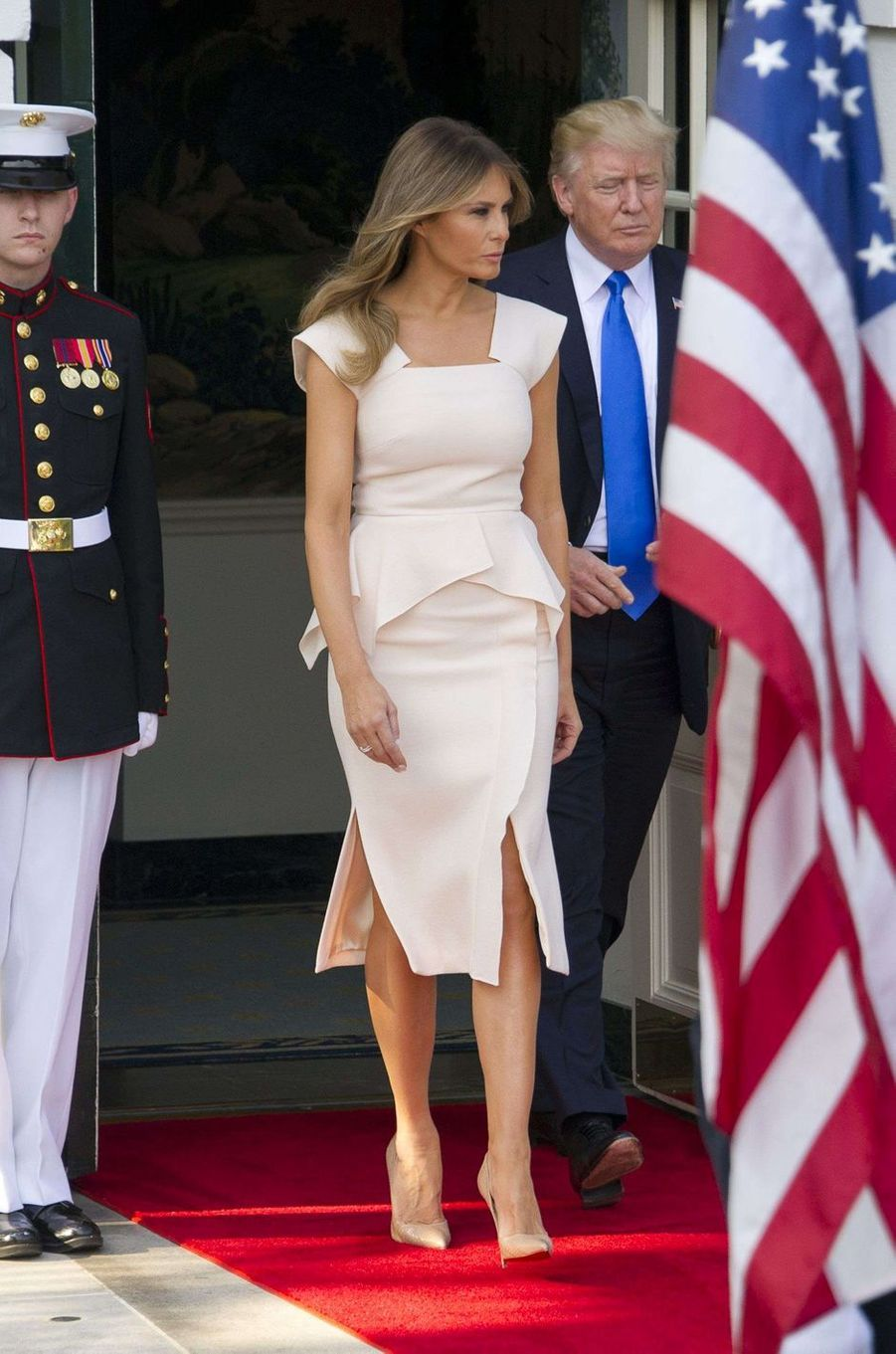 Melania et Donald Trumpà la Maison Blanche, le 29 juin 2017.