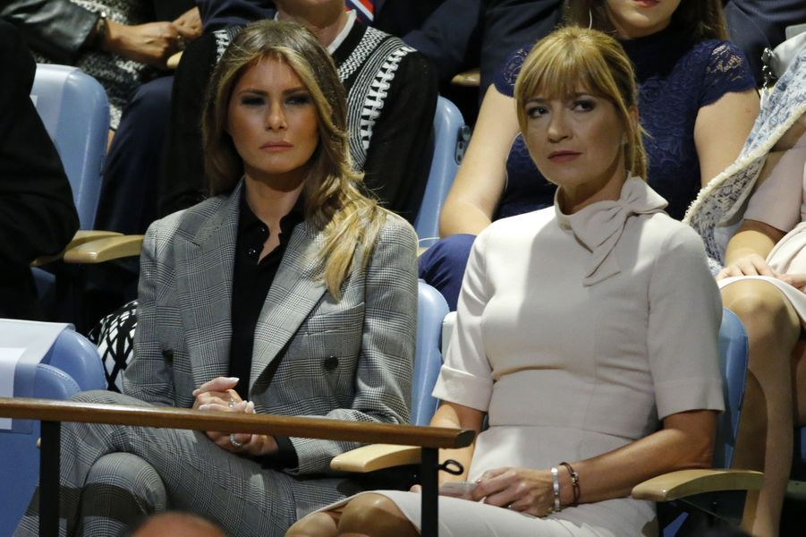 Melania Trump au siège des Nations unies, le 19 septembre 2017.