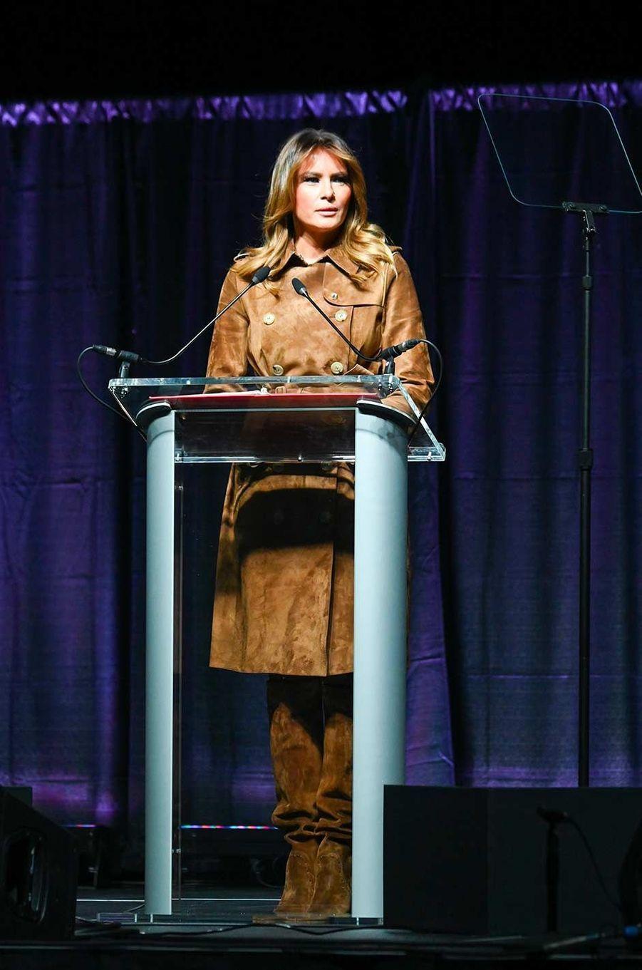 Melania Trump à Baltimore, le 26 novembre 2019.