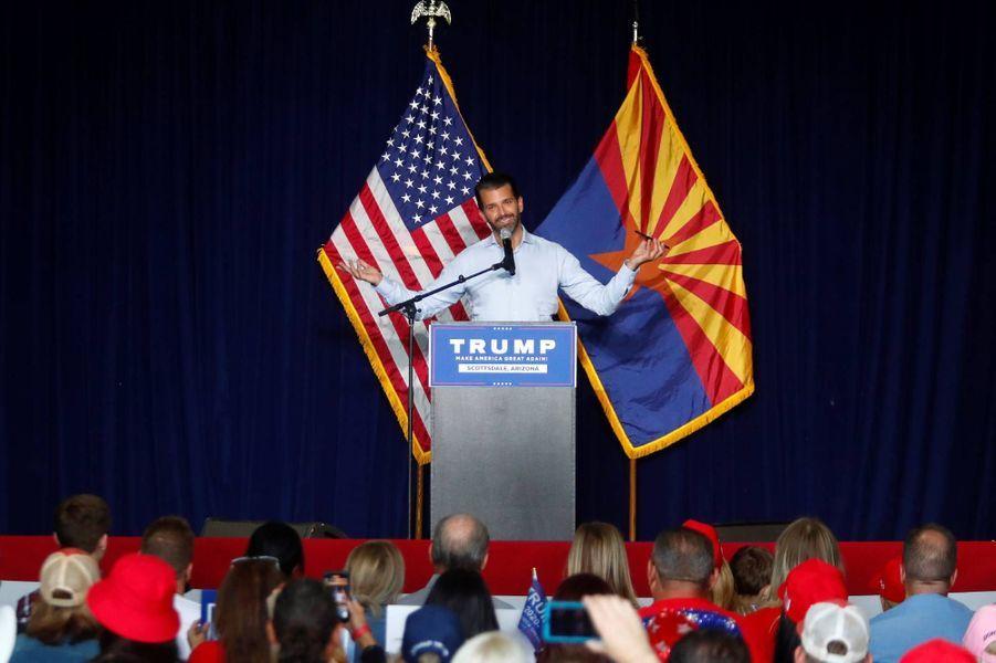 Donald Trump Jr en meeting à Scottsdale, dans l'Arizona, le 2 novembre 2020.