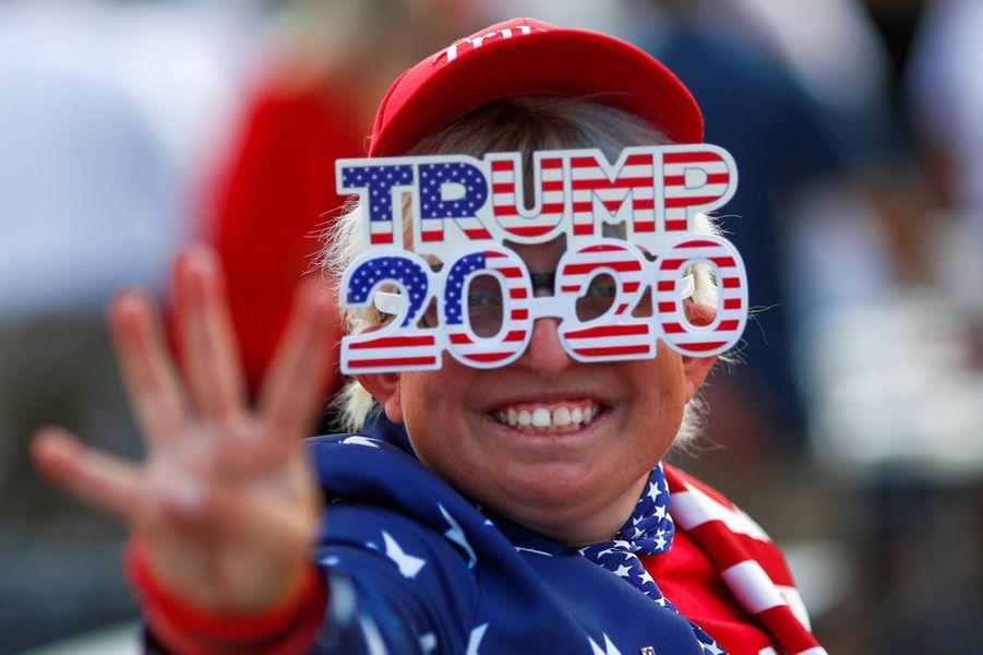 Lors du meeting de Donald Trump Jr à Scottsdale, dans l'Arizona, le 2 novembre 2020.
