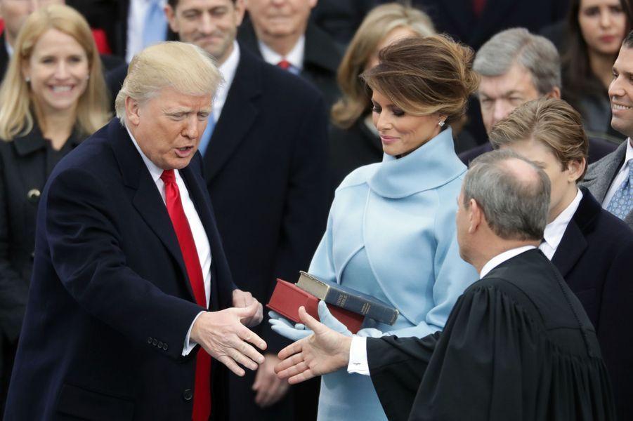 Melania Trump à l'investiture de son mari Donald Trump, le 20 janvier 2017.