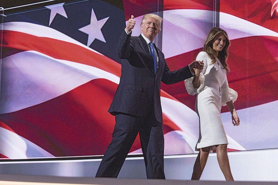 Lors de la convention républicaine à Cleveland, Ohio, le 18 juillet 2016. Melania y fera sa première et dernière intervention de campagne.