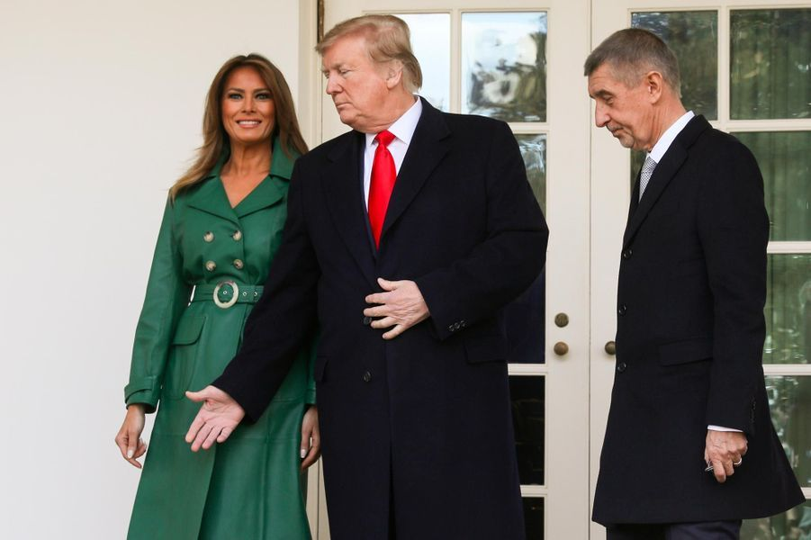 Melania et Donald Trump à la Maison-Blanche, le 7 mars 2019.