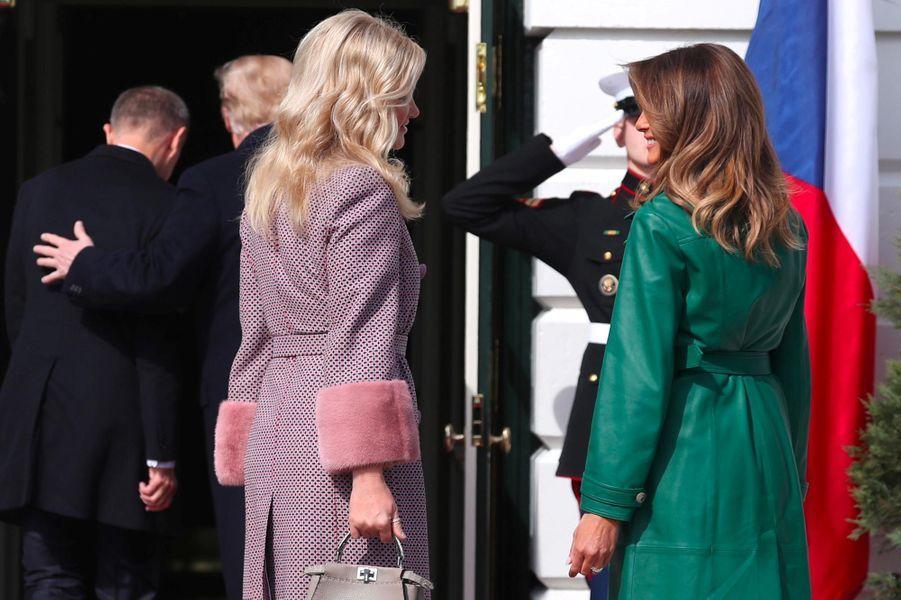 Monika Babisova et Melania Trump à la Maison-Blanche, le 7 mars 2019.