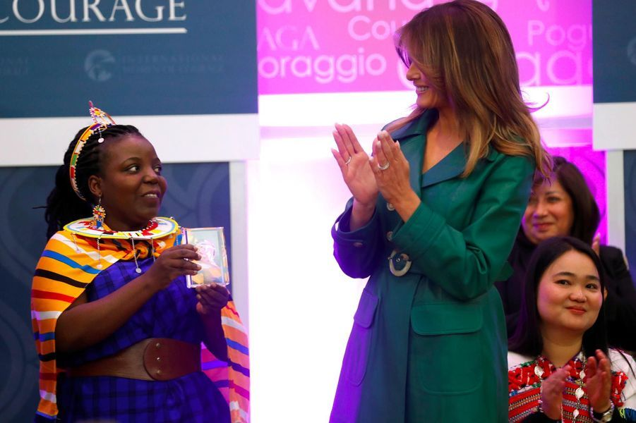 Melania Trump lors des International Women of Courage Awards à Washington, le 7 mars 2019.