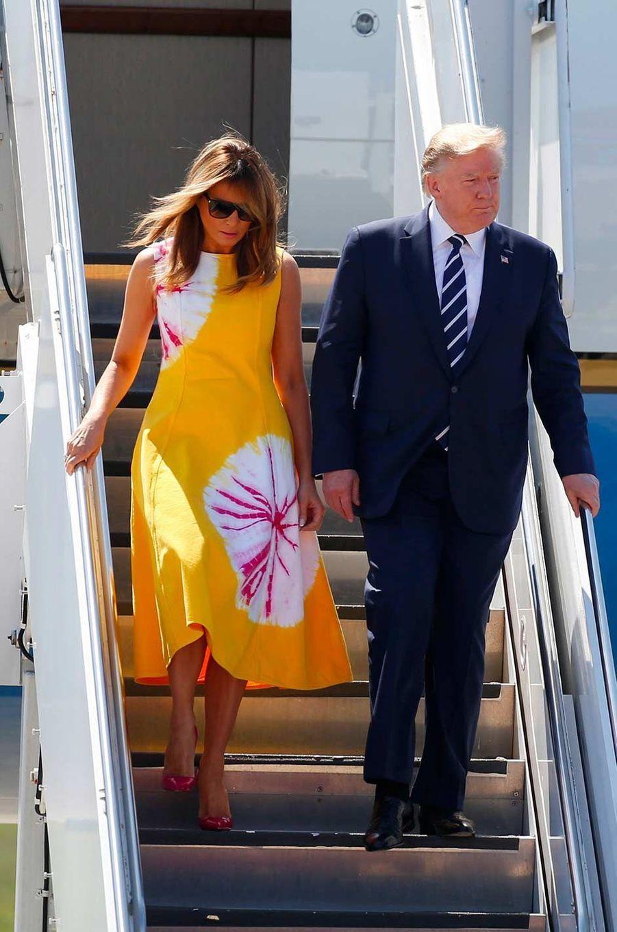 Melania Trump arrivant en France pour le sommet du G7, le 24 août 2019.