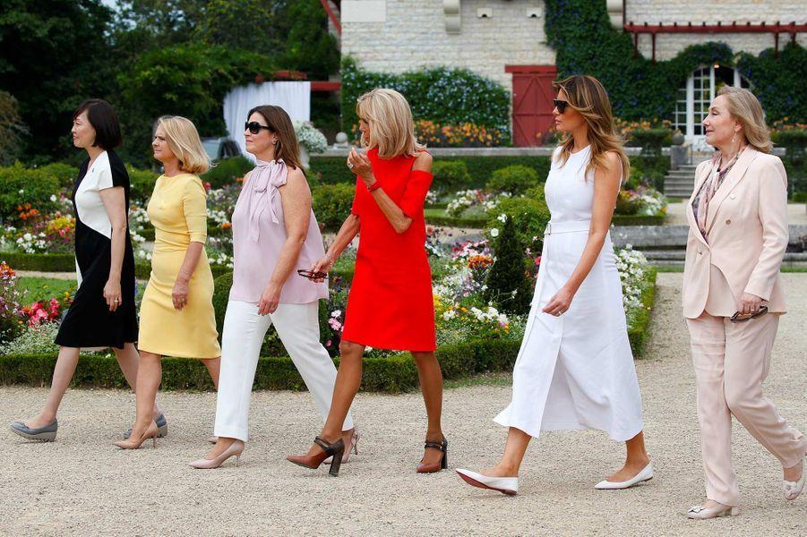 Melania Trump, Brigitte Macron et les autres épouses de dirigeants en marge du sommet du G7, le 25 août 2019.