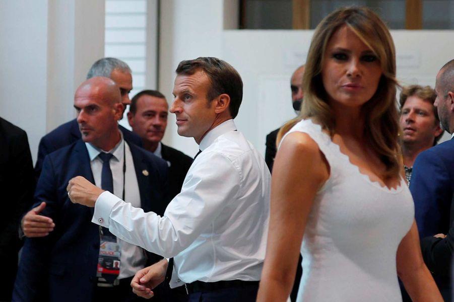 Melania Trump lors du sommet du G7 à Biarritz, le 26 août 2019.