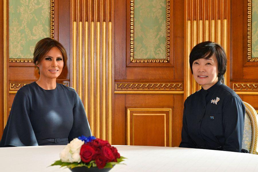 Melania Trump et Akie Abe à Tokyo, le 6 novembre 2017.