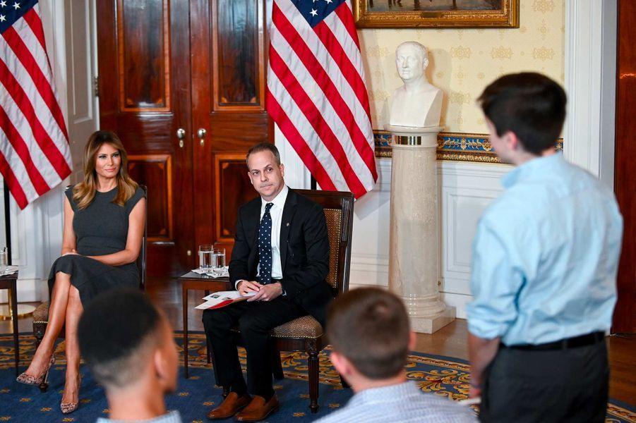 Melania Trump et Eric Asche à la Maison-Blanche, le 9 octobre 2019.
