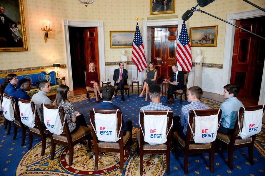 Kellyanne Conway, Alexa Azar, Melania Trump et Eric Asche à la Maison-Blanche, le 9 octobre 2019.