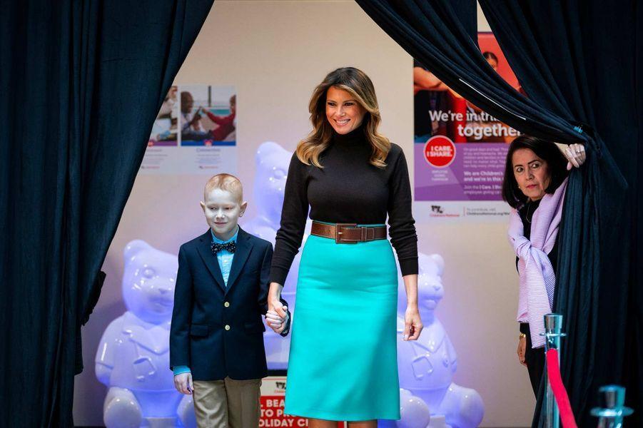 Melania Trump s'est rendue auChildren's National Hospital de Washington, le 6 décembre 2019.