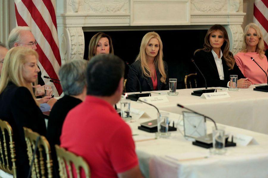 Melania Trump à la Maison Blanche, le 28 septembre 2017.