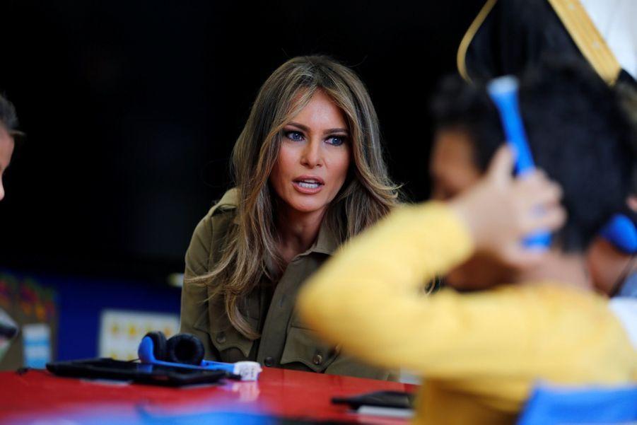 Melania Trump Sans Voile En Arabie Saoudite 19