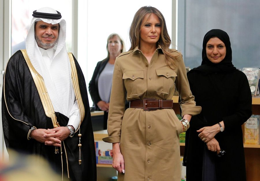Melania Trump Sans Voile En Arabie Saoudite 24