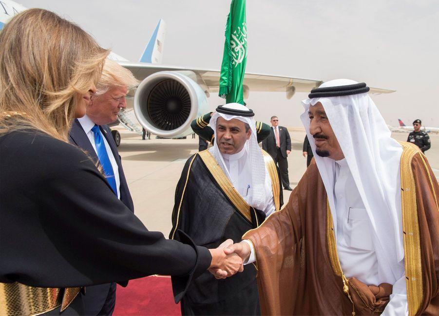 Melania Trump sans voile en Arabie Saoudite
