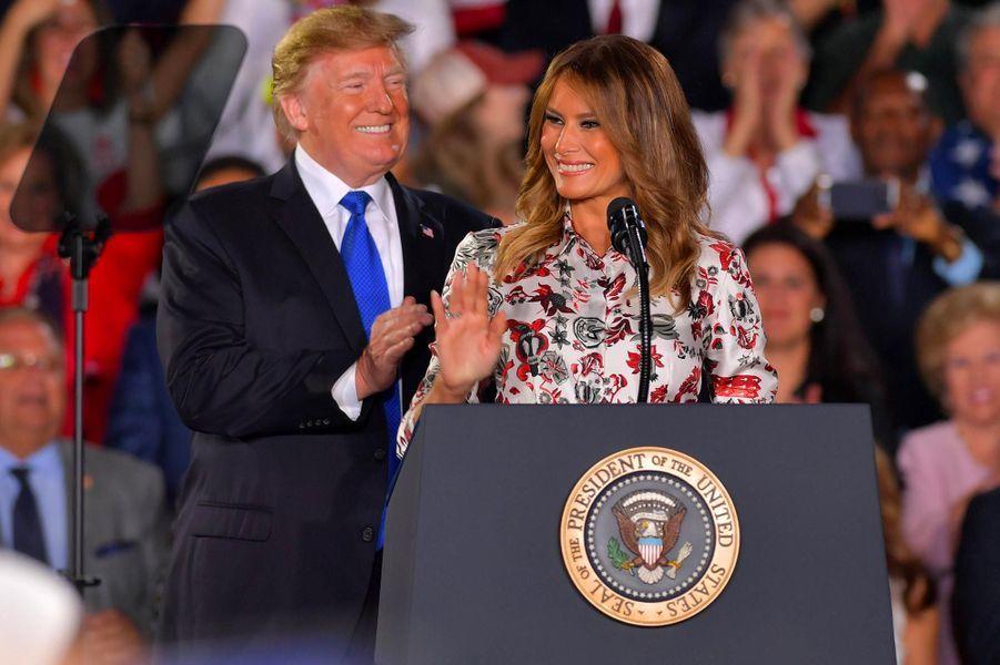 Donald etMelania Trump à Miami, le 18 février 2019.