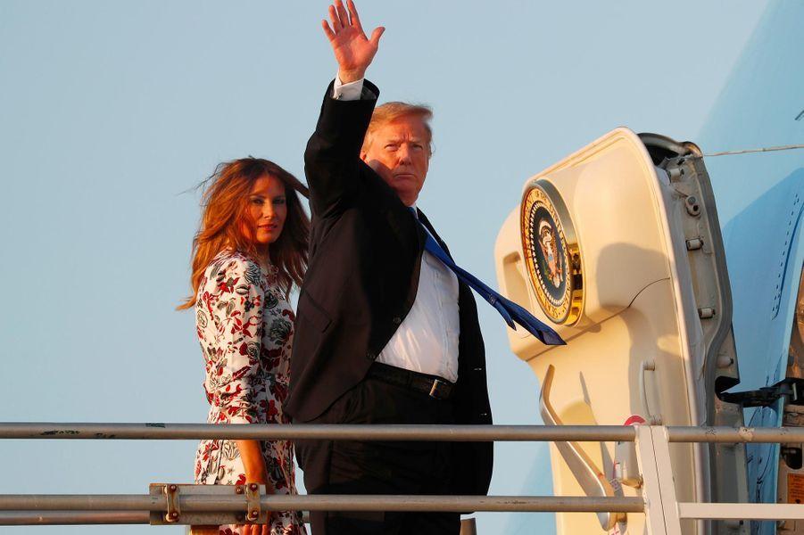 Donald et Melania Trump montant à bord d'Air Force One, le 18 février 2019.