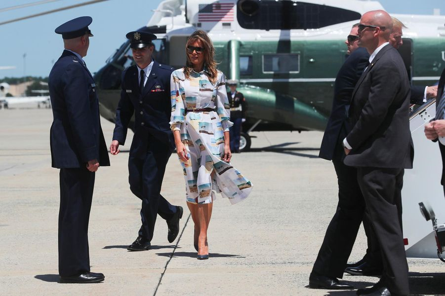 Melania Trump avant de monter à bord d'Air Force One, le 25 mai 2019.