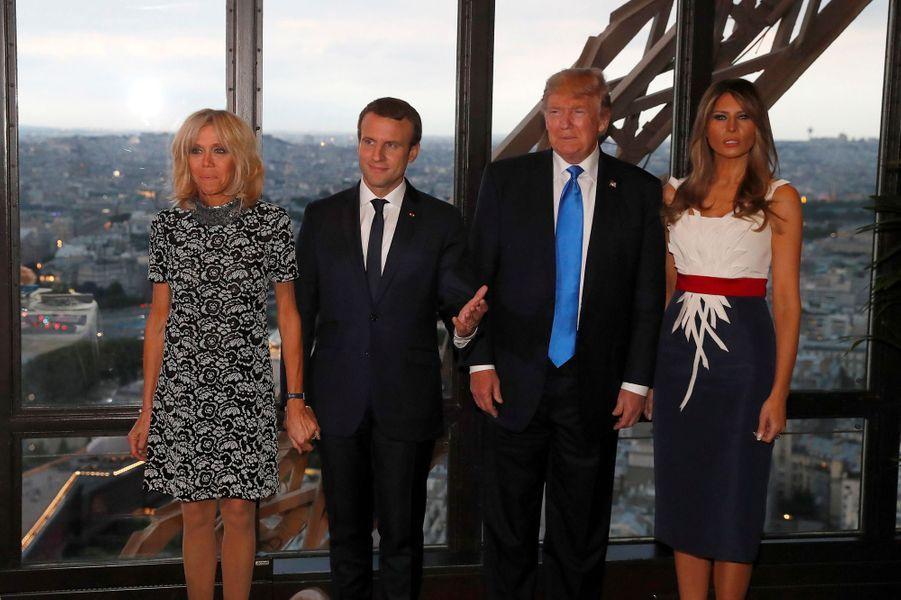 Melania Trump à Paris, le 13 juillet 2017.