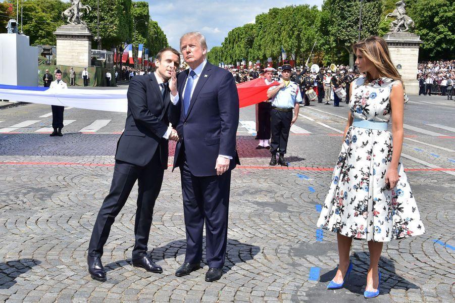 Melania Trump à Paris, le 14 juillet 2017.