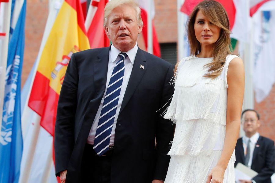 Donald Trump et Melania Trump à Hambourg, le 7 juillet 2017.