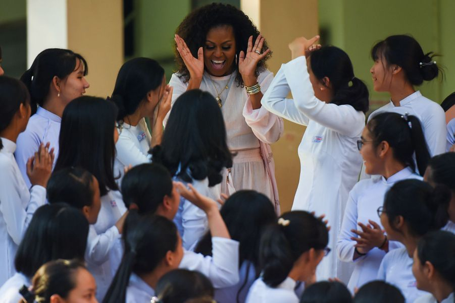 Michelle Obama le 9 décembre 2019 à Long An au Vietnam.