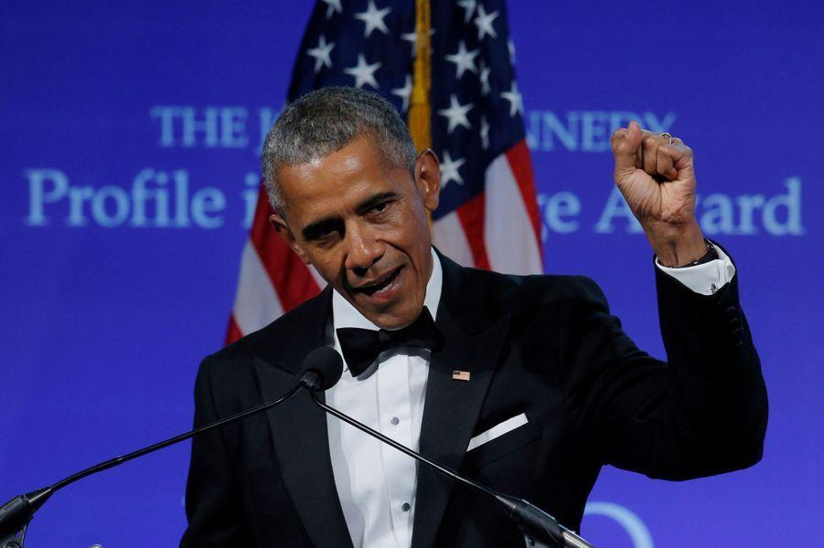 Barack Obama à Boston, le 7 mai 2017.