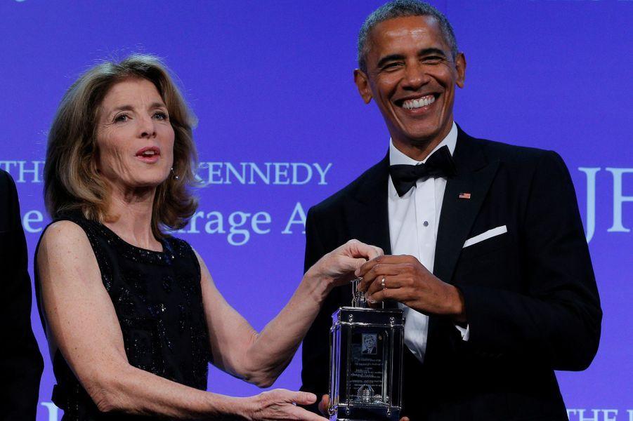 Caroline Kennedy etBarack Obama à Boston, le 7 mai 2017.