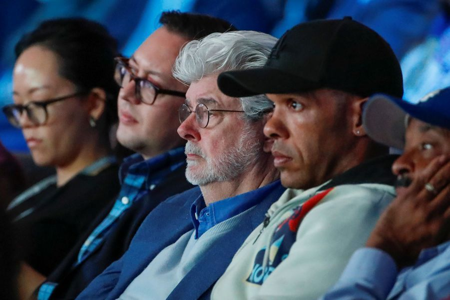 George Lucas au sommet de l'Obama Foundation à Chicago, le 31 octobre 2017.