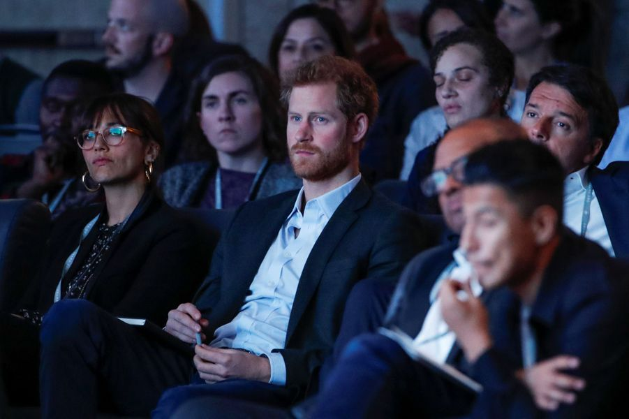 Le prince Harry au sommet de l'Obama Foundation à Chicago, le 31 octobre 2017.