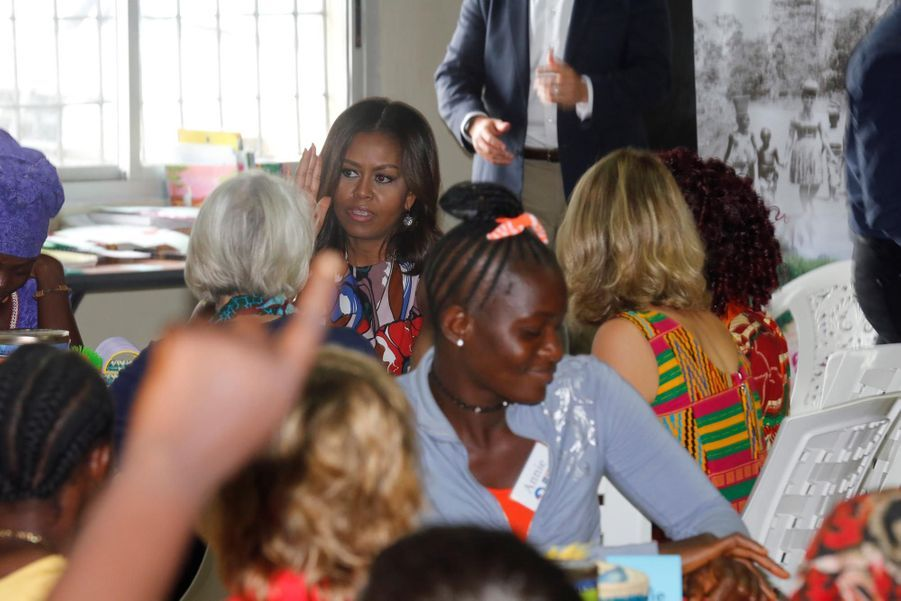 Michelle Obama au centre du Corps de la Paix