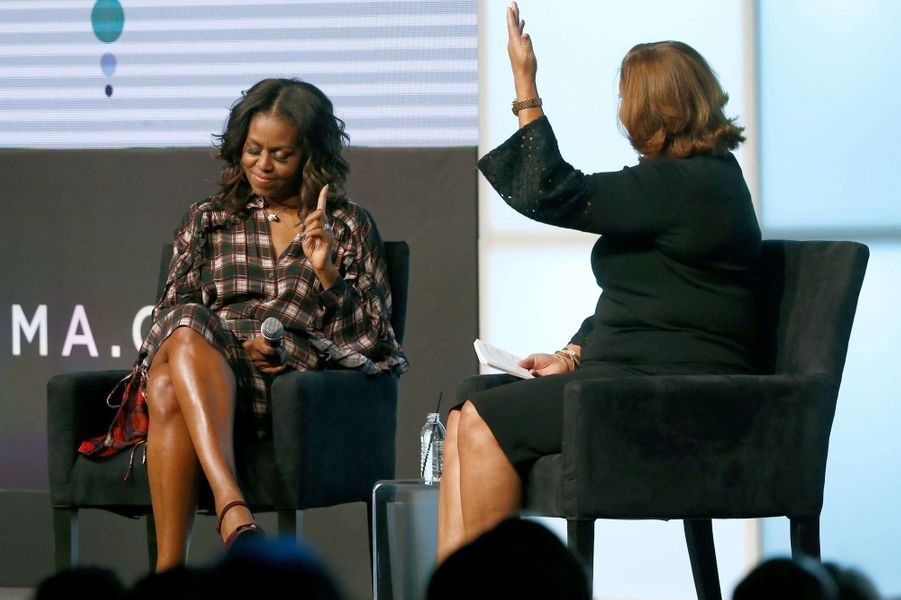 Michelle Obama au sommet de l'Obama Foundation à Chicago, le 1er novembre 2017.