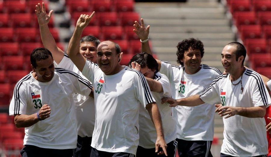 Claudio Acuna, Juan Carlos Aguilar, Franklin Lobos, Osman Araya, Samuel Avalos et Carlos Barrios.