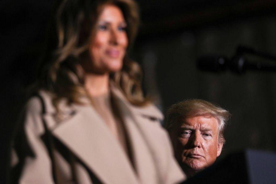 Donald et Melania Trumpsur la base militaire Andrews, le 20 décembre 2019.