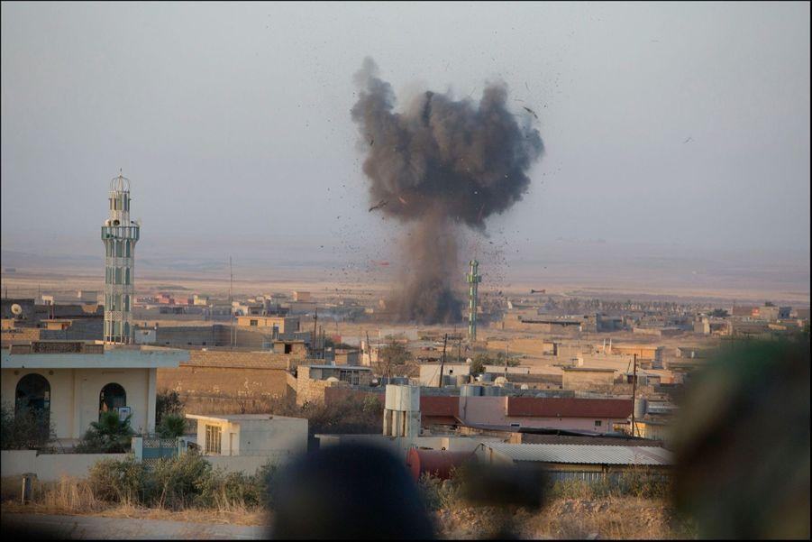 Naweran, au nord-ouest de Mossoul, bombardée par la coalition.