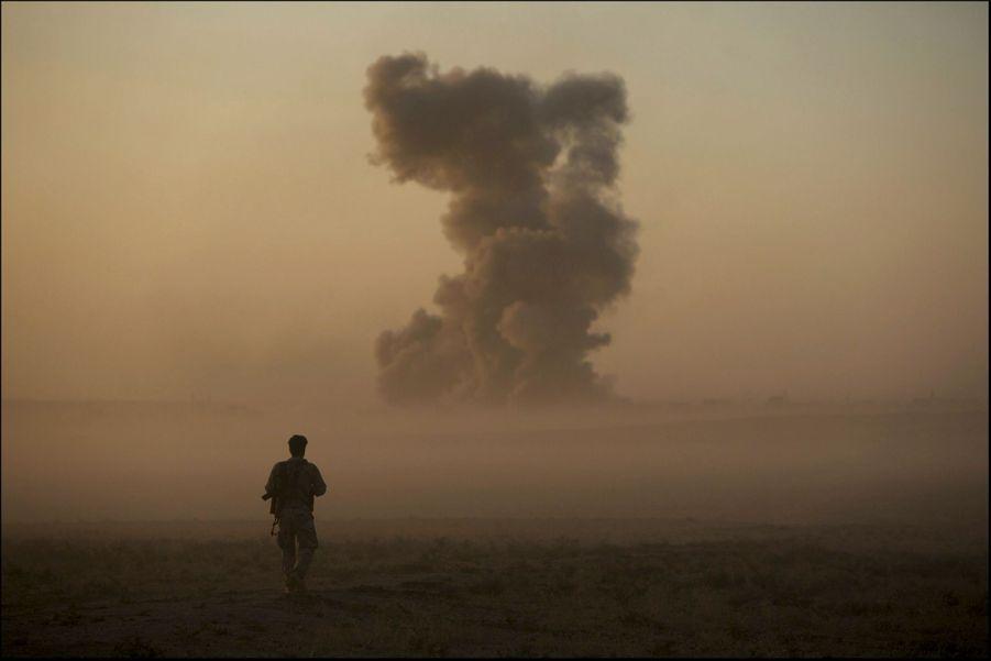 Naweran, le 20 octobre. En une semaine, la coalition a mené 32 raids et largué plus de 1 700 bombes.