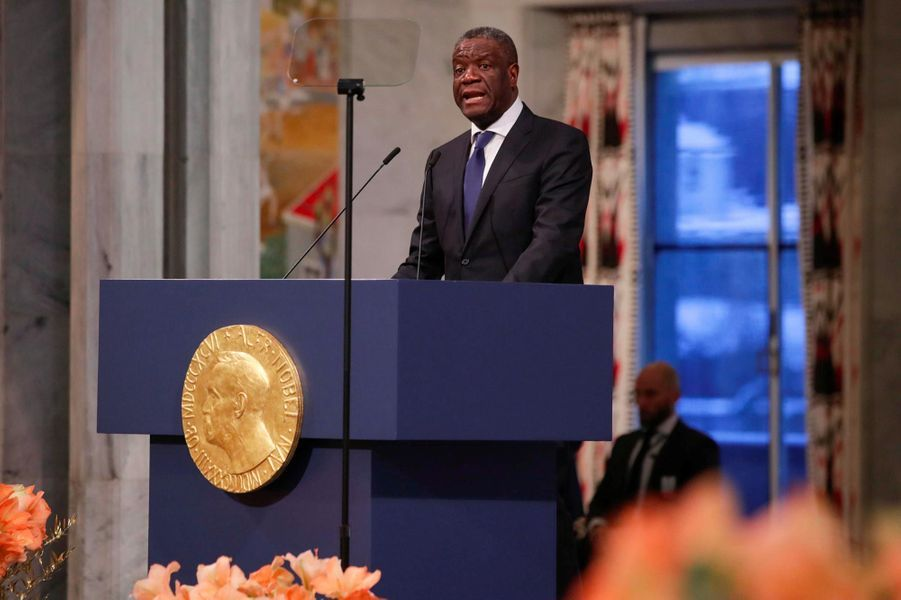 Denis Mukwege à Oslo, le 10 décembre 2018.
