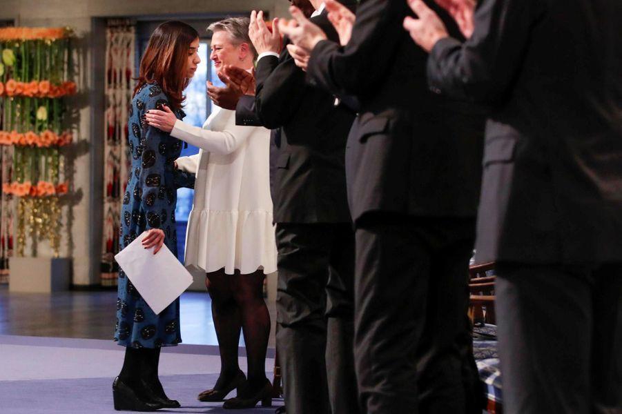 Nadia Murad à Oslo, le 10 décembre 2018.