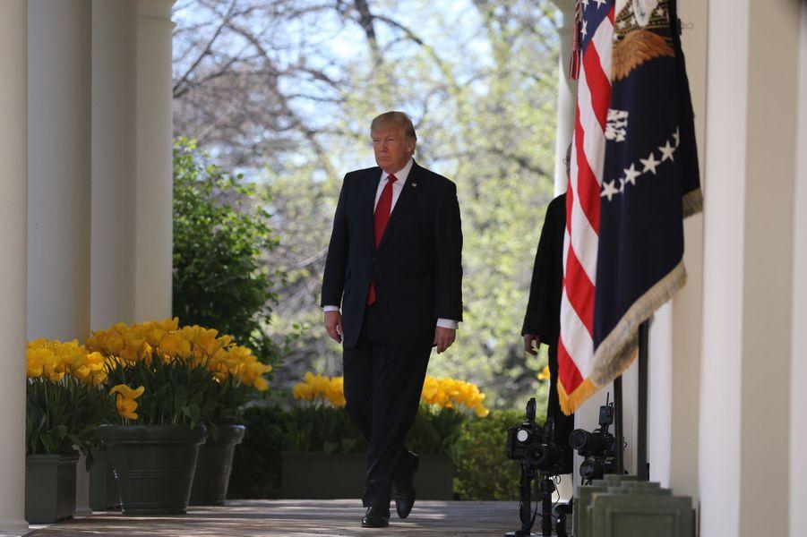 Donald Trump à la Maison Blanche, le 10 avril 2017.
