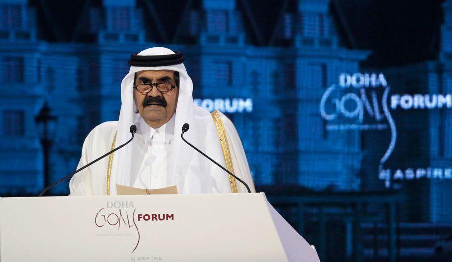 L'émir du Qatar, Sheikh Hamad bin Khalifa al-Thani.