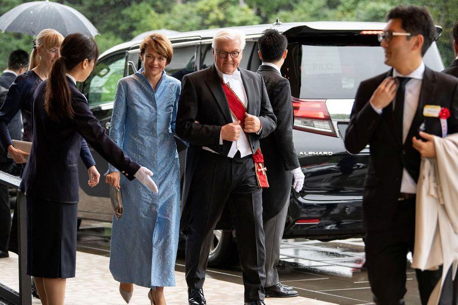 Le président de la République fédérale d'Allemagne Frank-Walter Steinmeier et son épouseElke Büdenbender