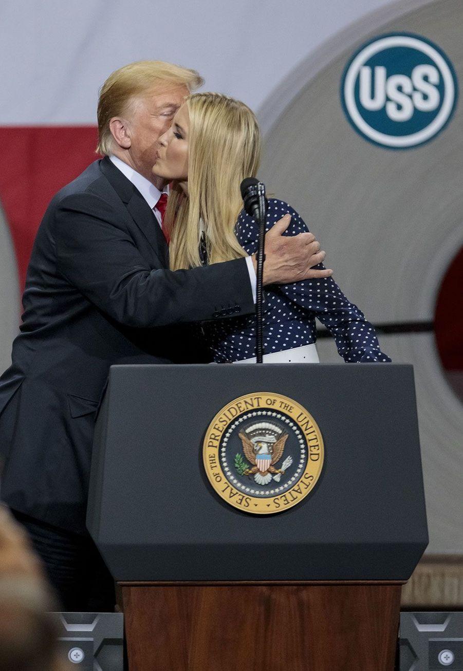 Ivanka Trump et Donald Trump àGranite City, dans l'Illinois