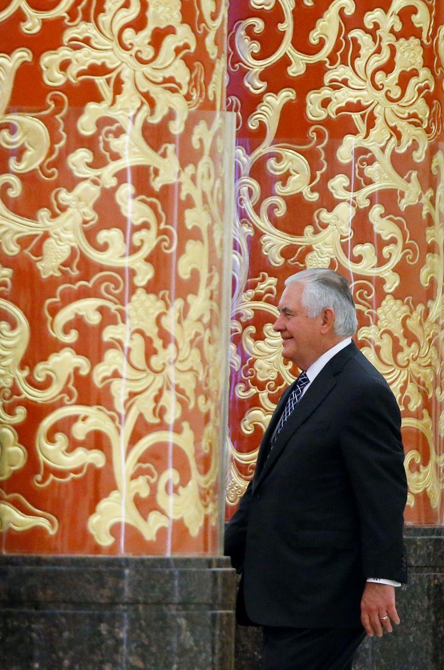 Rex Tillerson à un dîner d'Etat à Pékin, le 9 novembre 2017.