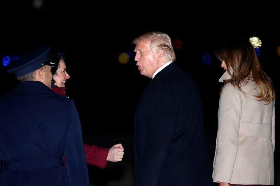 Donald Trump revenant à la Maison-Blanche, le 1er janvier 2018.