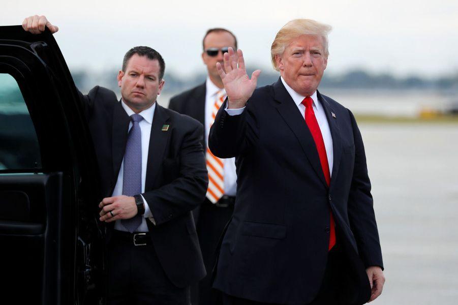 Donald Trump repartant de Floride, le 1er janvier 2018.