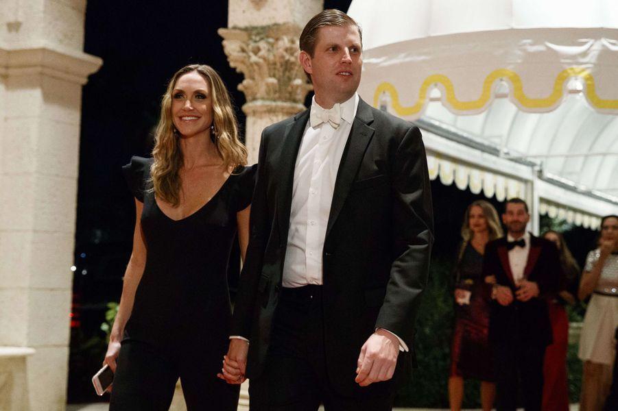 Lara et Eric Trumpà Mar-a-Lago, le 31 décembre 2017.